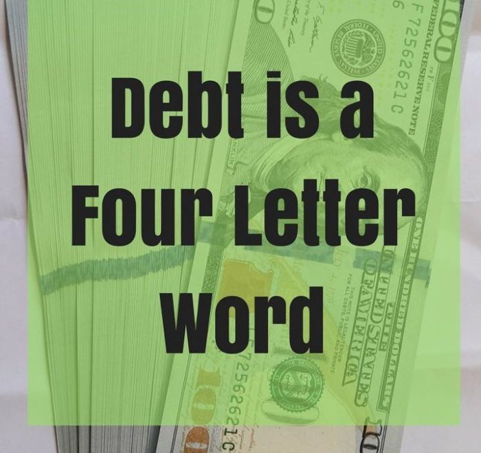 debt, a four letter word